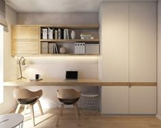 Home Office Decor Office Nook, Home Office Space, Home Office Decor, Home Decor, Office Interior Design, Office Interiors, Room Interior, Table Design Bois, Modern Home Offices