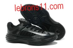 Nike Spring 2013 Lunar Hyperdunk 2012 Low All Black Lebron Olympic Shoes