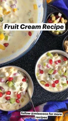 Fun Baking Recipes, Fruit Recipes, Desert Recipes, Summer Recipes, Recipies, Snack Recipes, Easy Indian Dessert Recipes, Healthy Indian Recipes, Indian Desserts