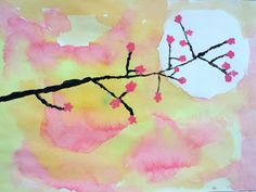 Cherry Blossom Paintings (How can other cultures inspire my art?)