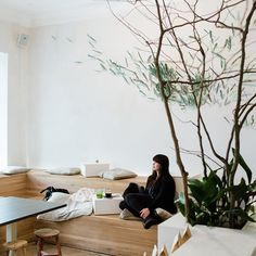 The food is as natural as possible, and the interior follows suit, with undyed textiles, unvarnished wooden seating and floors, and white walls as clean as your insides will be after doing a few shots of aloe vera and wheatgrass...