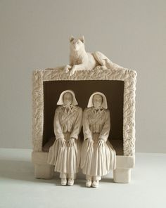 Twins in a Box-Tricia Cline  porcelain