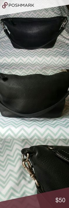 """Tignanello leather hobo style shoulder bag Genuine leather in great condition. LxWxH : 12""""x5""""x7"""" made in early 90s, strap is removable, the corners are great, the zipper works, stitching is all sound, and bag is very clean with no smell. I love this lil bag and took good care of it. Hope you enjoy it as well! Tignanello Bags Shoulder Bags"""