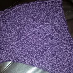 Crocheted baby blanket using baby alpaca yarn.