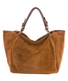 Look what I found on #zulily! Brown Buckle-Handle Leather Tote #zulilyfinds