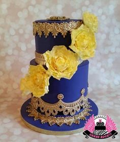 A beautiful Mother's Day cake in my favorite color—-purple! My client asked for a special cake for his mother, only asking that it be purple & yellow, her favorite colors, & said she loves flowers. He said they'd never had a custom cake,. Beautiful Wedding Cakes, Beautiful Cakes, Amazing Cakes, Cake Pictures, Cake Pics, Fondant Cakes, Cupcake Cakes, Cupcakes, Nature Cake