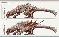 Monster Hunter fan designs, Alex Scrivener on ArtStation at https://www.artstation.com/artwork/85dDq