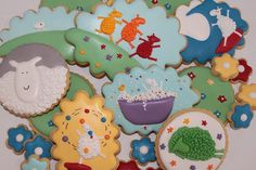 Where is the green sheep cookies by Miss Biscuit | Flickr - Photo Sharing!