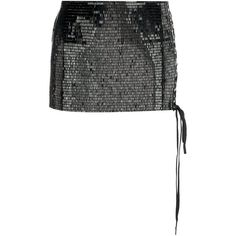 Anthony Vaccarello Sequined Micro Skirt ($2,038) ❤ liked on Polyvore featuring skirts, black, sequin skirt and anthony vaccarello