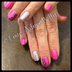 Super Cute Cheetah w/ Glitter Accent #nails #nail #fashion #style #maniq #cute #beauty #beautiful #instagood #pretty #girl #girls #stylish #sparkles #styles #glitter #nailart #art #photooftheday #pink #youngnails #gelnails #cheetah #animalprint #cheetahprint #love #shiny #gelpolish #nailswag #follow #loveadorabella
