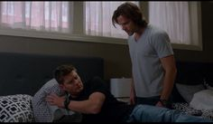 Dean Winchester/Sam Winchester in t-shirts. The main problem with the show is that the boys do not spend enough time in t-shirts.