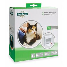 Staywell 300 4 Way Locking Cat Flap The Locking Cat Door allows you to control your cat's access in and out of your home. The lock allows you to choose from four access options: open, locked, in-only and out-only. Pin Image, Image Link, Image Cat, Dry Cat Food, Pet Safe, Cat Supplies, Cat Collars, Cat Furniture, Cat Love