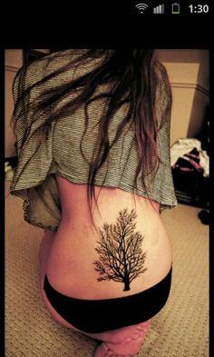 Classiest lower back tattoo I've seen.