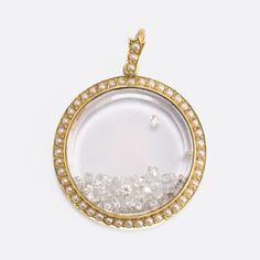 "Victorian Diamond & Pearl ""Shake Locket"""