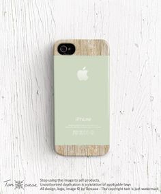 Mint iPhone 5s case New iPhone 5 case Apple logo iPhone by TonCase, $21.99