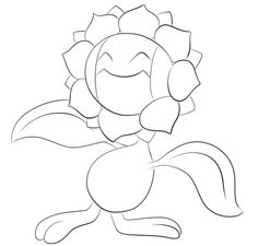 Click To See Printable Version Of Sunflora Coloring Page