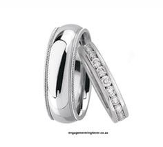 Annika 9kt White or Yellow Gold R: 9670-00 (Set) Gents: 7mm Width Ladies: 5mm Width Extra 30-35  Diamonds ~ 1.5mm  G-H Colour Vs-Si Clarity http://engagementring4ever.co.za/Wedding-Bands/Deal-of-the-Month-Wedding-Set/index.php/