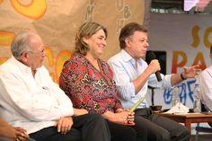 Presidente Juan Manuel Santos y Ministra de Cultura Mariana Garcés.  Crédito Juan David Padilla @Congo Amarillo MinCultura 2013.