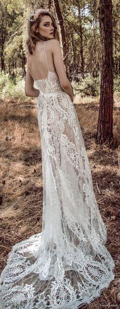galia lahav gala 4 2018 bridal sleeveless spaghetti strap sweetheart neckline full embellishment romantic soft a line wedding dress open back sweep train (911) bv -- Gala by Galia Lahav 2018 Wedding Dresses