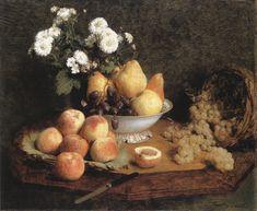 Flowers and Fruit  Henri Fantin-Latour