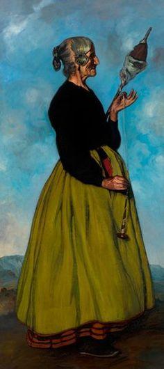 La hilandera, 1911