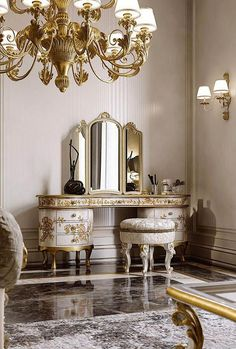Please Visit 36 Outstanding Italian Living Room Furniture Post to Read Full Article. Fancy Bedroom, Bedroom Decor, Bedroom Ideas, Italian Living Room, Dressing Table Design, Dressing Tables, Luxury Italian Furniture, Classic Furniture, Vintage Room