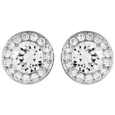 Swarovski Angelic Pierced Earrings ($89) ❤ liked on Polyvore featuring jewelry, earrings, swarovski earrings, swarovski jewellery, pearl earrings, swarovski jewelry and pave jewelry