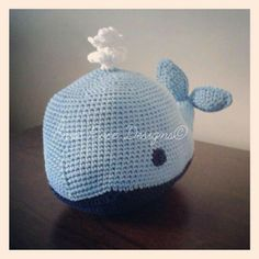 crochet whale doorstop from evie rose designs