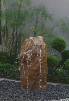 Want his!!!! Boulder Fountain, pondless water feature