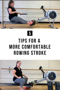 Do you wish you had more room to row? Feel cramped on the rowing machine?  In this video we're showing you 5 quick ways to make the rowing machine more comfortable. A rowing machine workout should be fun and allow you to work out the way you want. So if you're pregnant, have a weight loss goal, or you're a big CrossFitter, these tips will help! Rowing Technique, Rower Workout, Indoor Rowing, Row Row Your Boat, Rowing Machines, Workout Guide, Muscle Groups, Weight Loss Goals