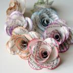 Newspaper Flower Necklace. LOVE!!