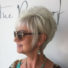 Ash Blonde Pixie For Women Over 50