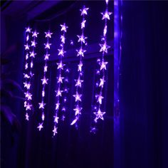INST 54 LED Curtain Fairy String Lights, Star-shaped for Party, Home, Indoor Decorations,etc.(Purple) INST,http://www.amazon.com/dp/B00DQL1VQW/ref=cm_sw_r_pi_dp_pxDptb0YVHZ5QXZ1