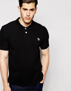 """Polo shirt by Paul Smith Breathable pique Polo collar Two button placket Logo applique Regular fit - true to size Machine wash 100% Cotton Our model wears a size Medium and is 185.5cm/6'1"""" tall"""
