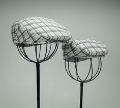 Father   Son Matchig Blue Green White Plaid Hats - Summer Linen-Cotton  Original Print Flat Jeff Cap 61024dc7ec6f