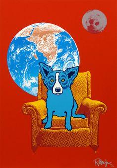 Musings of an Artist's Wife: Blue Dog: The Silkscreens