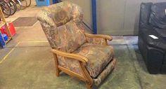 Кресло релакс с дамаска