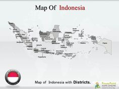 #Map of #Indonesia