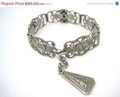 SALE Vintage French Souvenir Bracelet  Paris  by VintageInBloom, $72.25