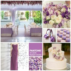 Pantone Color of the Year 2014: Radiant Orchid || Wedding Inspiration Board