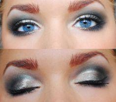Silver + Gray Smokey Eye Makeup