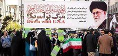 """POR: Goal Miles de iraníes conmemoraban la toma de la embajada de Estados Unidos en 1979 con una marcha por las calles de Teherán al grito de """"Muerte a Estados Unidos"""" y """"Muerte a…"""