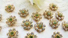 Vintage Swarovski Crystal Rhinestone Flower by alyssabethsvintage