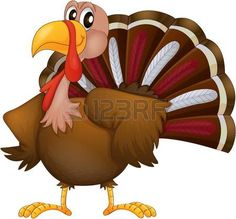 turkey: Illustration of an angry turkey on a white background Illustration