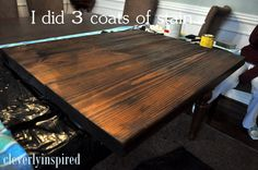 How to make a diy wood countertop easier than you thought diy cheap easy wood counter solutioingenieria Choice Image