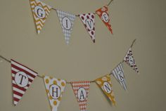 "Free printable ""Give Thanks"" bunting - Perfect for the Thanksgiving season."