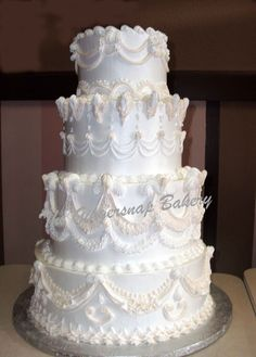The Gingersnap bakery - Stacked Wedding Cakes