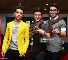 Singers of Italian opera pop Il Volo Gianluca Ginoble, Piero Barone and Ignazio Boschetto speak with the media during a press conference to promote their new album 'Mas Que Amor' at Presidente...