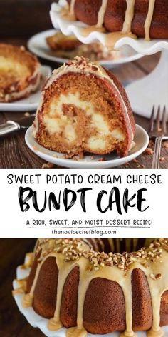 Sweet Potato Pound Cake, Sweet Potato Dessert, Sweet Potato Cheesecake, Bunt Cakes, Cupcake Cakes, Food Cakes, Cupcakes, Cheesy Recipes, Sweet Potato Recipes