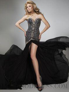 Sheath / Column Sweetheart Sequined Chiffon Evening Dresses